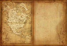 35 Map of North America. Map of North America of the nineteenth century Royalty Free Stock Photography