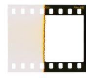 35 milímetros de filmstrip, frame de retrato, Fotografia de Stock