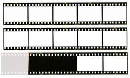 35 millimètres de filmstrip, 12 cadres de tableau, Images stock