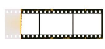 35 millimètres de filmstrip, 3 cadres de tableau, Photographie stock libre de droits
