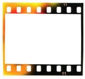 35 millimètres de filmstrip, cadre de tableau, incidence légère Photos stock