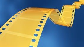 35 Millimeter-Goldfilm Stockfotografie