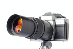 35 Millimeter-Kamera Lizenzfreies Stockbild