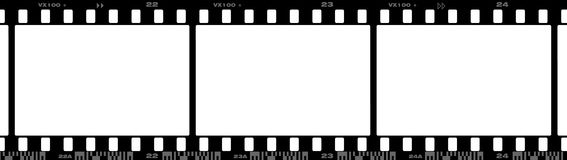 35 mm film. Photographic 35mm film strip with Dx code Stock Image