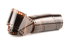 35 mm film. 35 mm  film isolated in white background Stock Image