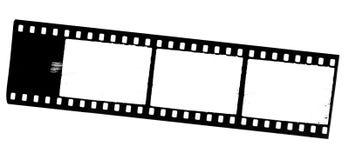 35 mm film frames. On white Stock Photo