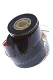 35 mm film reels vertical Stock Image