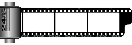 35 mm film roll. Photographic 35mm film strip roll Royalty Free Stock Photos