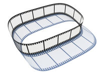 35 mm film strip. 35 mm photo film forming 3D rectangular with rounded corners with shadow on white background Royalty Free Stock Photos