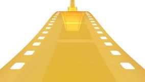 35 mm gouden film in wit 2 Stock Foto