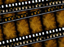 35 mm movie Films. 2D digital art Royalty Free Stock Photos