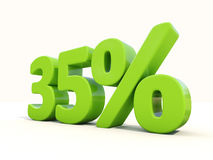 35% percentage rate icon on a white background Royalty Free Stock Photo