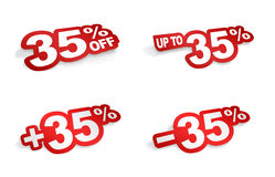35-Prozent-Förderung vektor abbildung