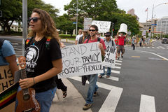 35 upptar anti apec honolulu protest Royaltyfria Bilder