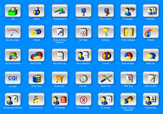 35 web panel icons set Stock Image