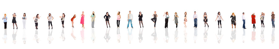 35 young bodies. Of Groups of people multiple series Stock Photo