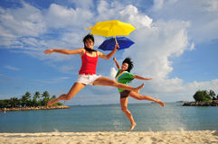 35 zabawa plażowa Zdjęcie Royalty Free