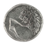 350古老BC drachm希腊半狮子 免版税库存图片