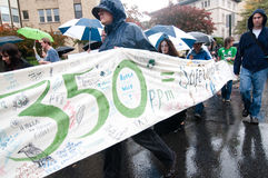350 Climate Change Protest Royalty Free Stock Photo