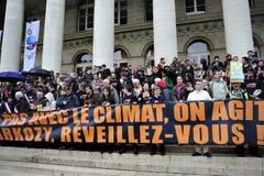350 organisation, démonstration de réchauffement global Image libre de droits