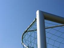 角度目标足球 免版税库存照片