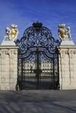355 poort bij Belvedere Paleis in Wenen Oostenrijk Royalty-vrije Stock Afbeeldingen