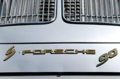 356 samochodowy emblemat Porsche s90 Fotografia Royalty Free