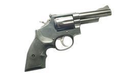 357 magnum revolver. Powerful 357 magnum revolver isolated on a white background stock images