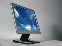 计算机lcd监控程序 免版税库存图片