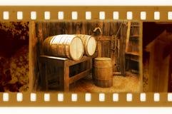 35m m viejos enmarcan la foto con los barriles retros Fotos de archivo