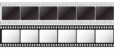 35mm影片航摄带 库存图片
