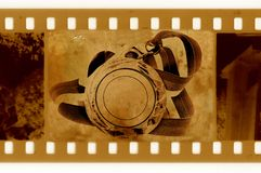 35mm框架奖牌老照片丝带 免版税库存照片