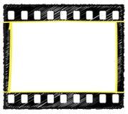 35mm框架标注选择草图 皇族释放例证