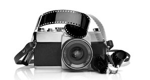35mm照相机影片老照片 图库摄影