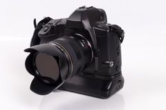 35mm自动照相机重点slr 免版税图库摄影