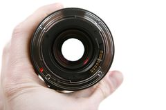 35mm autofocuslins Royaltyfri Fotografi