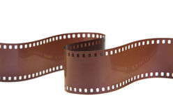 35mm classic negative film roll isolated. On white Royalty Free Stock Photography
