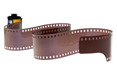 35mm classic negative film roll isolated Royalty Free Stock Photo