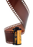 35mm classic negative film roll isolated. On white Stock Images