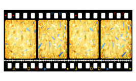 35mm color movie film. 2D digital art Royalty Free Stock Photos