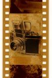 35mm con la macchina fotografica della foto dell'annata Immagine Stock Libera da Diritti