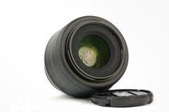35mm eerste geïsoleerded dslrlens Stock Afbeeldingen