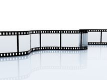 35mm empty film srip Royalty Free Stock Photography