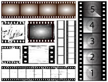 35mm film. 35mm and 135 still camera and cinema film strips Royalty Free Stock Photos