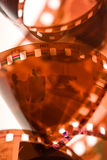 35mm film. A closeup view of a 35mm film negative Stock Images