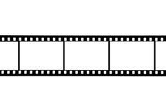 35mm film. 35 mm film frame on white Royalty Free Stock Images
