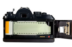 35mm Film Camera. Old style film camera before digital technolgy stock photography