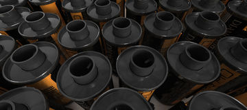 35mm film canisters. A background of 35mm film canisters royalty free stock photos