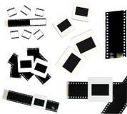 35mm film en geïsoleerde diaframe Royalty-vrije Stock Afbeeldingen
