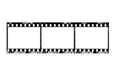 35mm film frame. Isolated by white stock illustration